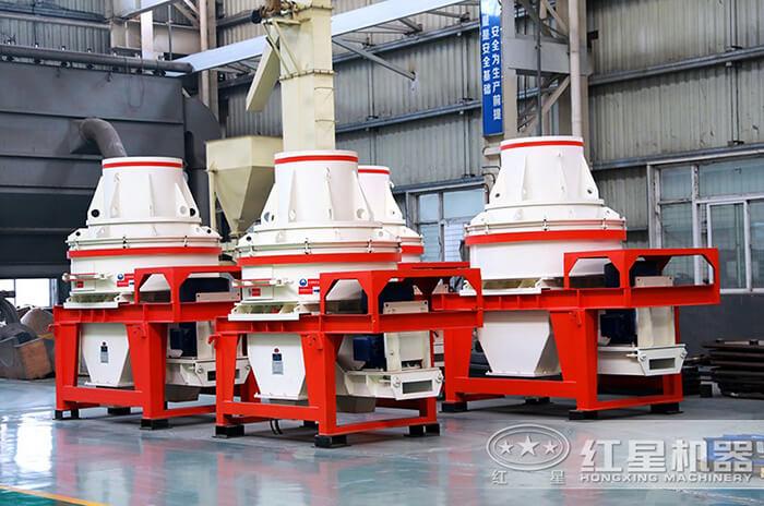 HX冲击式粉砂机设备生产车间