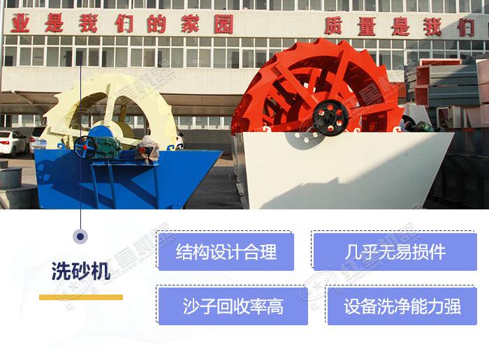 轮式洗砂机设备优势展示