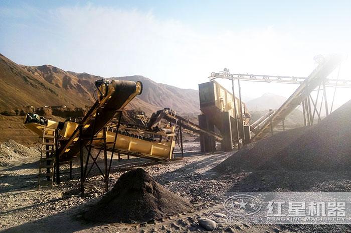 传统固定式煤矸石加工生产线