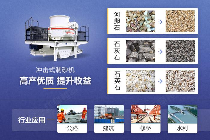 碎石制砂机设备应用领域展示